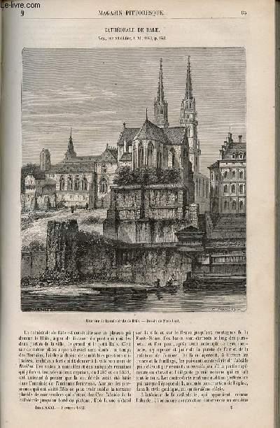 LE MAGASIN PITTORESQUE - Livraison n°009 - Cathédrâle de Bâle.