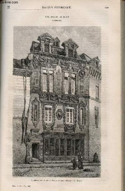 LE MAGASIN PITTORESQUE - Livraison n°022 - Une maison de Dijon en Côte d'or - La maison Milsand rue des Forges.
