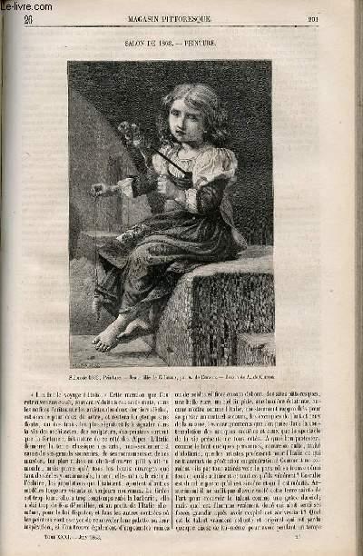 LE MAGASIN PITTORESQUE - Livraison n°026 - Salon de 1863 - Peinture.