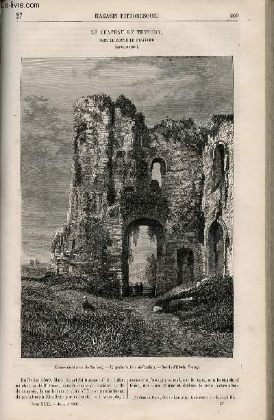 LE MAGASIN PITTORESQUE - Livraison n°027 - Le château de Tutubury dans le comté de Stafford (Angleterre).