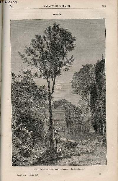 LE MAGASIN PITTORESQUE - Livraison n°030 - Orphée.