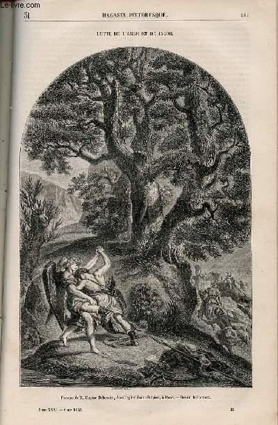 LE MAGASIN PITTORESQUE - Livraison n°031 - Lutte de l'ange et de Jacob.
