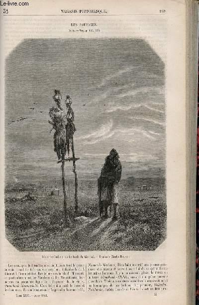 LE MAGASIN PITTORESQUE - Livraison n°032 - Les sauvages,suite.