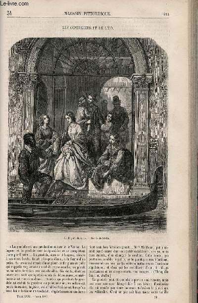 LE MAGASIN PITTORESQUE - Livraison n°034 - Les gondoliers et le lido.