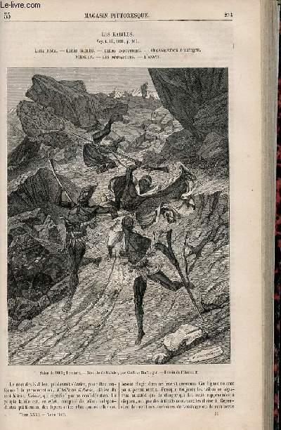 LE MAGASIN PITTORESQUE - Livraison n°035 - Les kabiles (la race, les moeurs,indistries,organisation poitique,religion,marabouts et anaya).