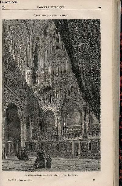 LE MAGASIN PITTORESQUE - Livraison n°036 - Eglise SAint Jacques à Liège.