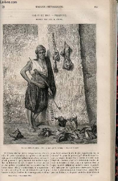 LE MAGASIN PITTORESQUE - Livraison n°039 - Salon de 1863 - Peinture - Boucher turc par M. Gérôme.