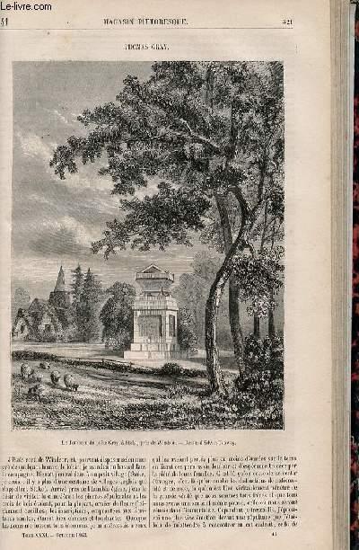 LE MAGASIN PITTORESQUE - Livraison n°041 - Thomas Gray.
