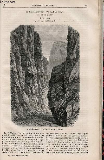 LE MAGASIN PITTORESQUE - Livraison n°047 - Le Hirschensprung ou saut du cerf dans le Val d'Enfer (Forêt Noire).
