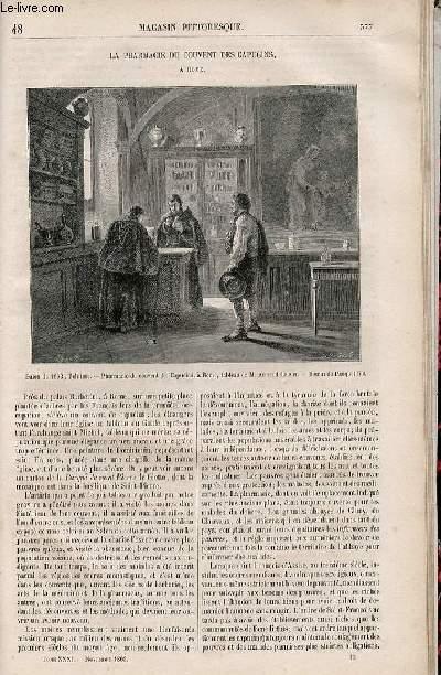 LE MAGASIN PITTORESQUE - Livraison n°048 - La pharmacie du couvent des Capucins à Rome.