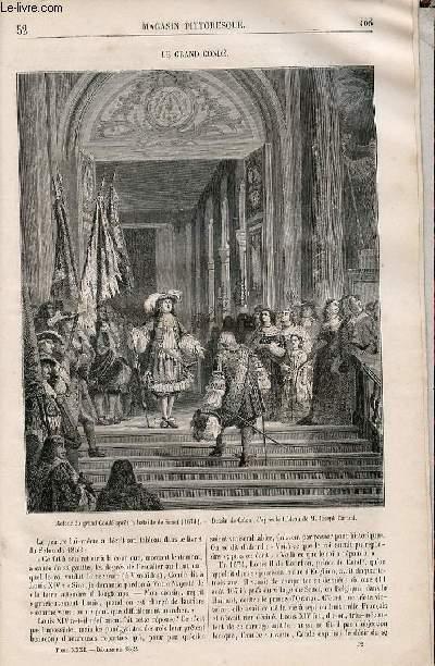 LE MAGASIN PITTORESQUE - Livraison n°052 - Le grand Condé.