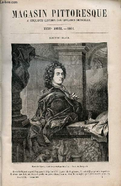 LE MAGASIN PITTORESQUE - Livraison n°001 - Hyacinthe Rigaud.