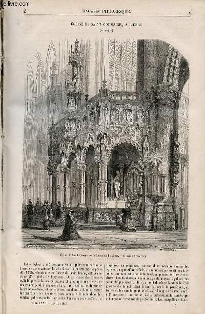 LE MAGASIN PITTORESQUE - Livraison n°002 - Eglise de Saint Gommaire  à Lierre (belgique).