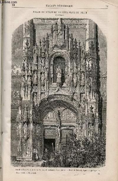 LE MAGASIN PITTORESQUE - Livraison n°010 - Façade du monastère de Santa Maria de Belem (Portugal).
