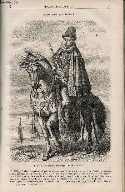 LE MAGASIN PITTORESQUE - Livraison n°017 - Un portrait de Philippe II.