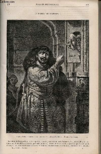 LE MAGASIN PITTORESQUE - Livraison n°019 - Un tableau de Rembrandt.
