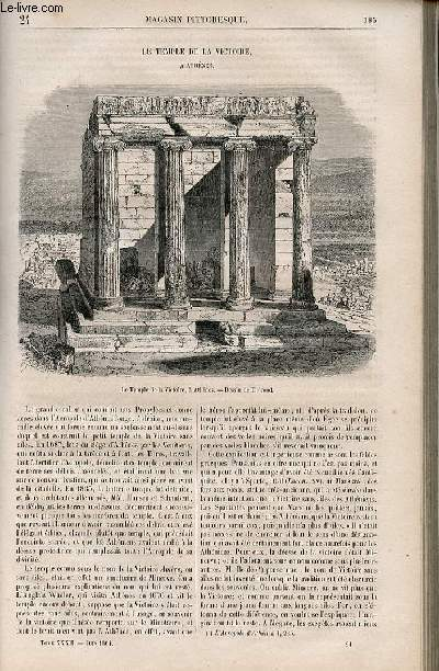 LE MAGASIN PITTORESQUE - Livraison n°024 - Le temple de la Victoire à Athènes.