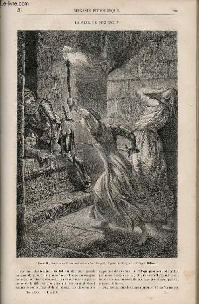 LE MAGASIN PITTORESQUE - Livraison n°026 - La soeur de Duguesclin.