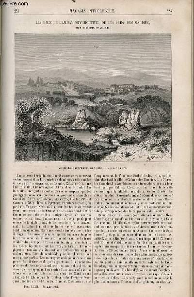 LE MAGASIN PITTORESQUE - Livraison n°029 - Les eaux de Hammam - Meskhoutine ou les bains des maudits près de Guelma, en Algérie.