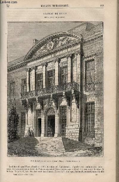 LE MAGASIN PITTORESQUE - Livraison n°032 - Château de Bercy.