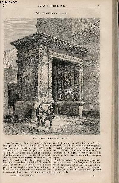 LE MAGASIN PITTORESQUE - Livraison n°036 - L'arc des changeurs à Rome.