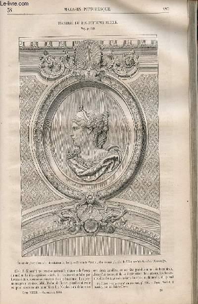 LE MAGASIN PITTORESQUE - Livraison n°038 - Boiserie du 18ème siècle.