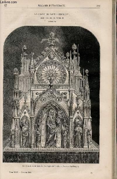 LE MAGASIN PITTORESQUE - Livraison n°042 - La chasse de Sainte Gertrude dans l'église de Nivelles (Belgique).