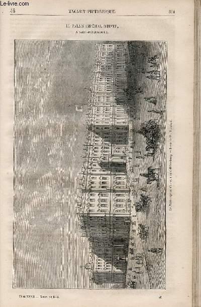 LE MAGASIN PITTORESQUE - Livraison n°046 - Le palais impérial d'hiver à Saint Petersbourg.