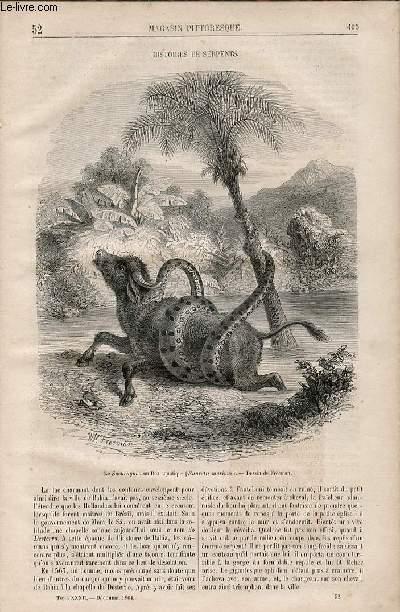 LE MAGASIN PITTORESQUE - Livraison n°052 - Histoires de serpents.