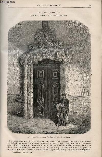 LE MAGASIN PITTORESQUE - Livraison n°003 - Le couvent d'Alcobaça - Affonso Premier fondateur du royaume de Portugal,à suivre.