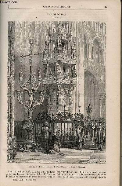 LE MAGASIN PITTORESQUE - Livraison n°004 - L'église de Léon (Belgique).