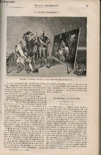 LE MAGASIN PITTORESQUE - Livraison n°007 - Les quatre tempéraments.