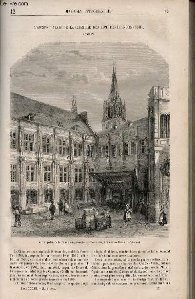 LE MAGASIN PITTORESQUE - Livraison n°012 - L'ancien palais de la chambre des comptes de Normandie à Rouen.