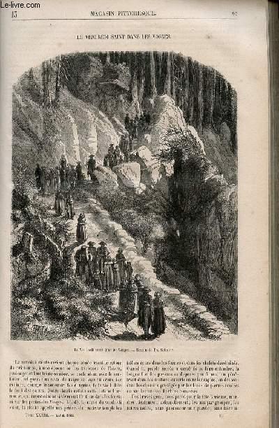 LE MAGASIN PITTORESQUE - Livraison n°013 - Le vendredi saint dans les Vosges.