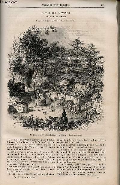 LE MAGASIN PITTORESQUE - Livraison n°015 - Bataille d'Hastings - l'abbaye de la bataille.