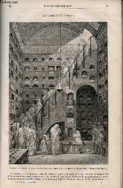 LE MAGASIN PITTORESQUE - Livraison n°016 - Les tombeaux des Romains.