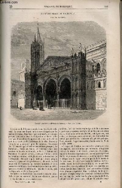 LE MAGASIN PITTORESQUE - Livraison n°020 - La cathédrâle de Palerme - portail latéral,à suivre.