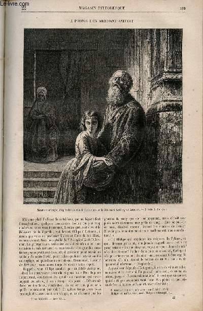 LE MAGASIN PITTORESQUE - Livraison n°022 - A propos d'un mendiant aveugle.