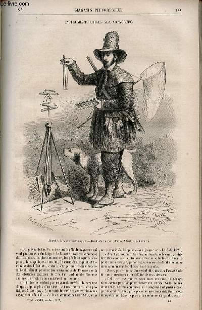 LE MAGASIN PITTORESQUE - Livraison n°023 - Instruments utiles aux voyageurs.