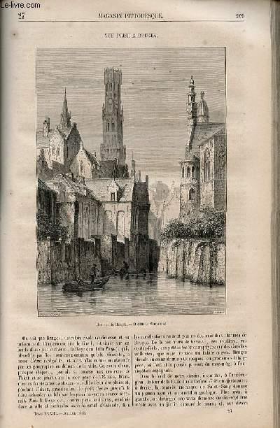 LE MAGASIN PITTORESQUE - Livraison n°027 - Vur prise à Bruges.