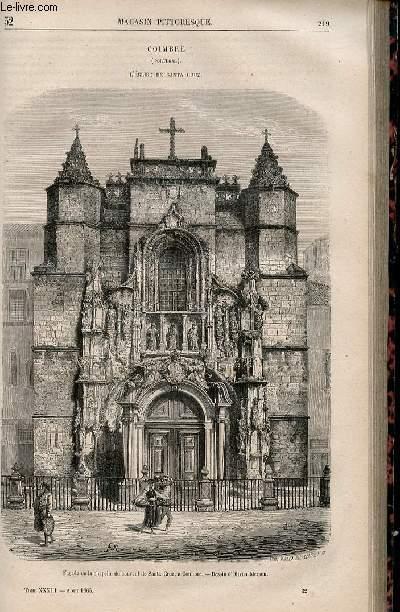 LE MAGASIN PITTORESQUE - Livraison n°032 - Coimbre (Portugal) - L'église de Santa Cruz.