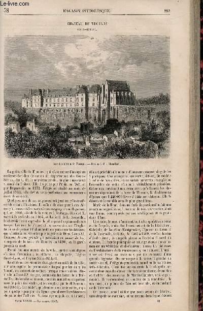 LE MAGASIN PITTORESQUE - Livraison n°038 - Château de Thouars(Deux Sèvres).