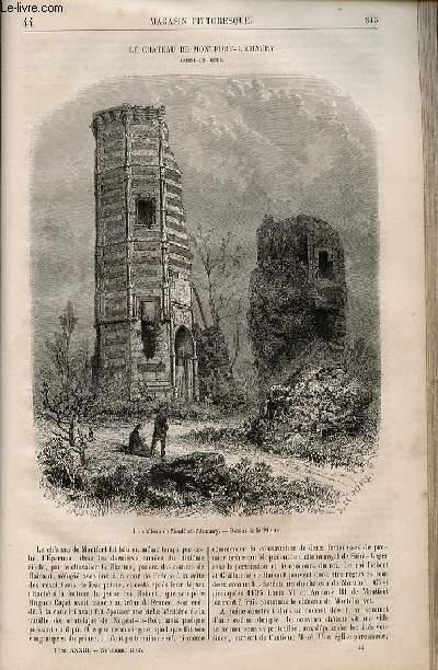 LE MAGASIN PITTORESQUE - Livraison n°044 - Le château de Montfort l'Amaury (Seine et Oise).