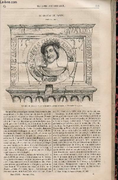 LE MAGASIN PITTORESQUE - Livraison n°045 - Le châtau de Sansac.