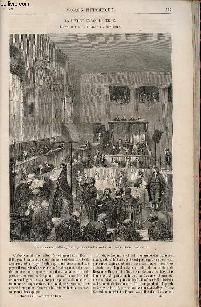 LE MAGASIN PITTORESQUE - Livraison n°047 - La justice en Angleterre - souvenirs des entretiens de mon hôte.