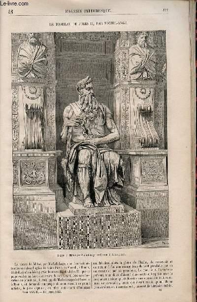 LE MAGASIN PITTORESQUE - Livraison n°048 - Le tombeau de Jules II par Michel Ange.