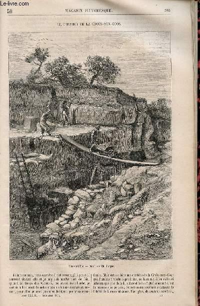 LE MAGASIN PITTORESQUE - Livraison n°050 - Le carrier de al Croix aux Coqs.
