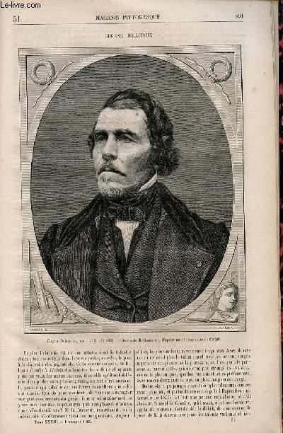 LE MAGASIN PITTORESQUE - Livraison n°051 - Eugène Delacroix.