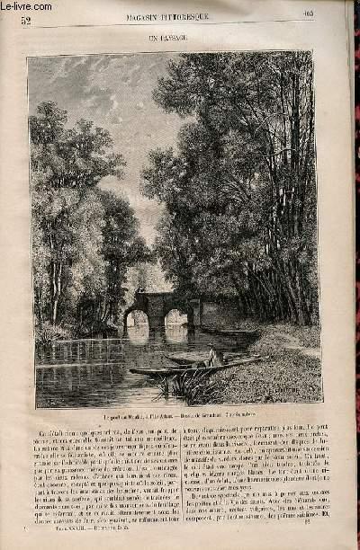 LE MAGASIN PITTORESQUE - Livraison n°052 - Un paysage.