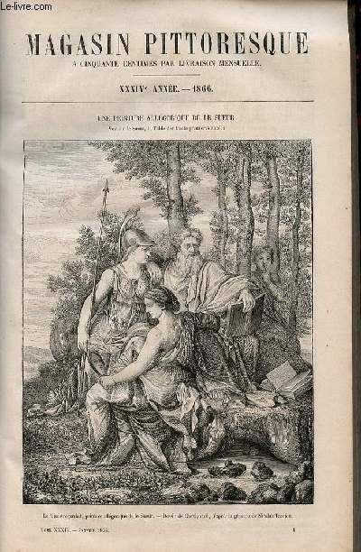 LE MAGASIN PITTORESQUE - Livraison n°001 - Une peinture allégorique de Le Sueur .